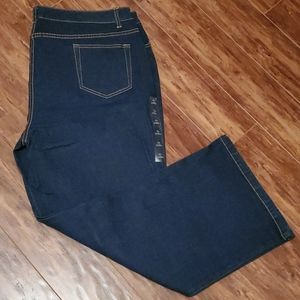 Tabi Jeans Stretch Dark Wash Wide Leg